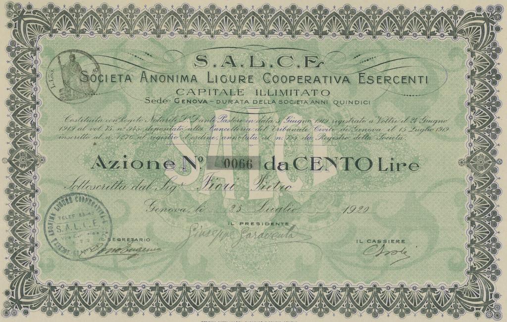 S.A.L.C.E. Soc. Anonima Ligure Cooperativa Esercenti
