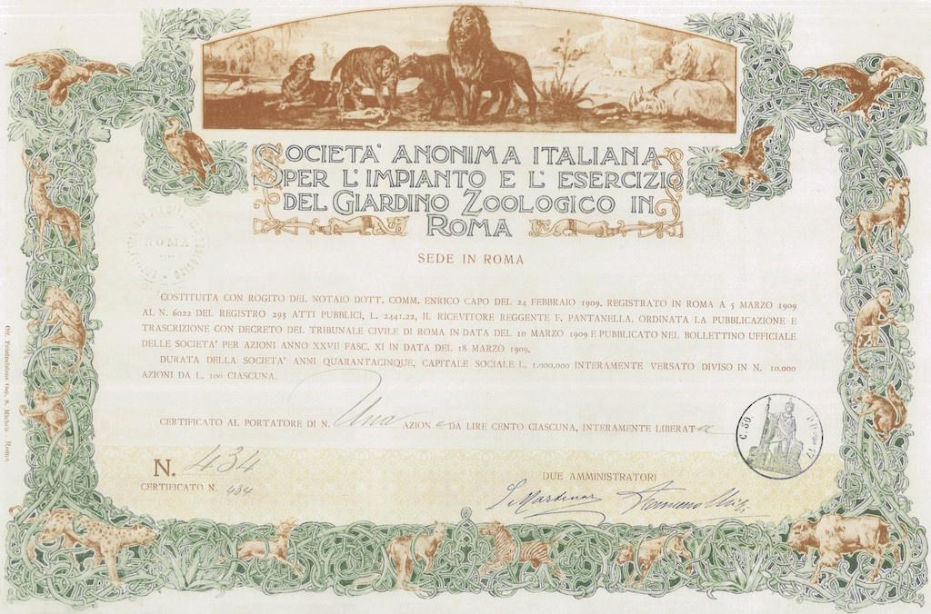 Italiana per l'Impianto e l'Esercizio del Giardino Zoologico in Roma S.A.