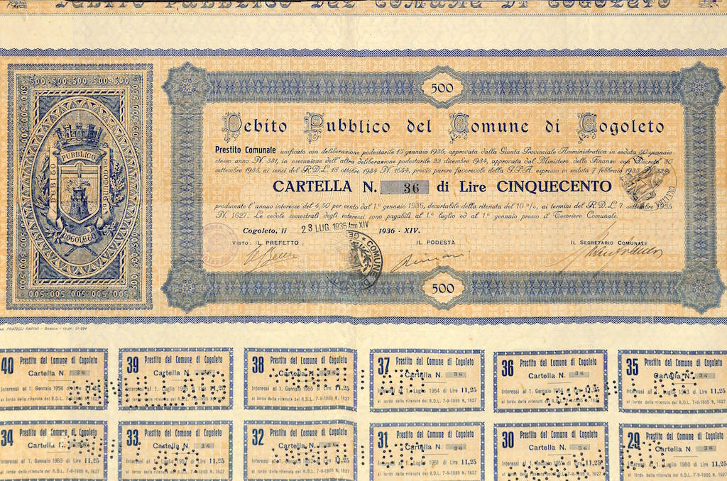 Debito Pubblico del Comune di Cogoleto