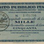 1946 – Debito Pubblico Italiano – Prestito della Ricostruzione – Rendita 5% – Roma-1