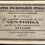 1946 – Debito Pubblico Italiano – Prestito della Ricostruzione – Rendita 5% – Roma-4