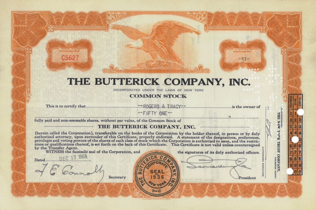 The Butterick Company, Inc.