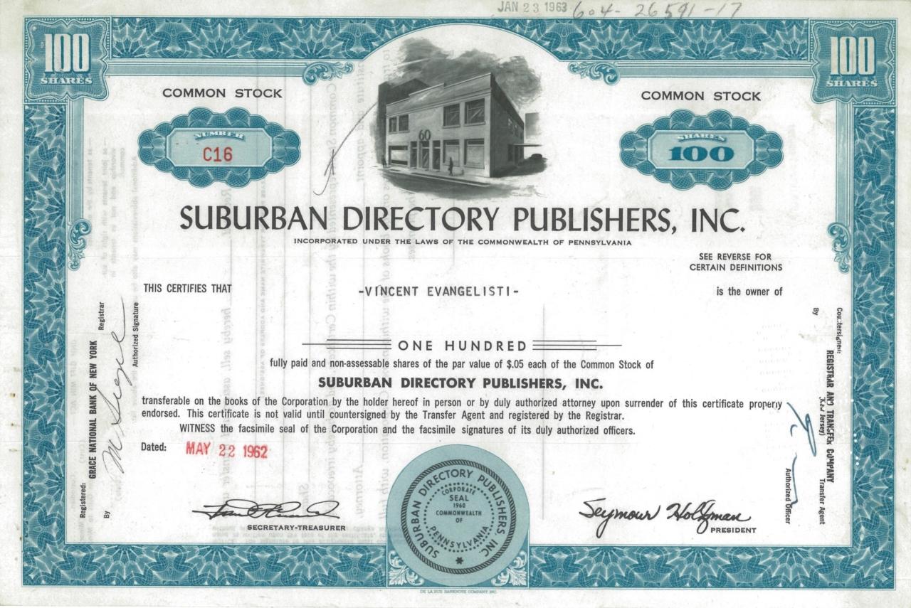 Suburban Directory Publishers, Inc.