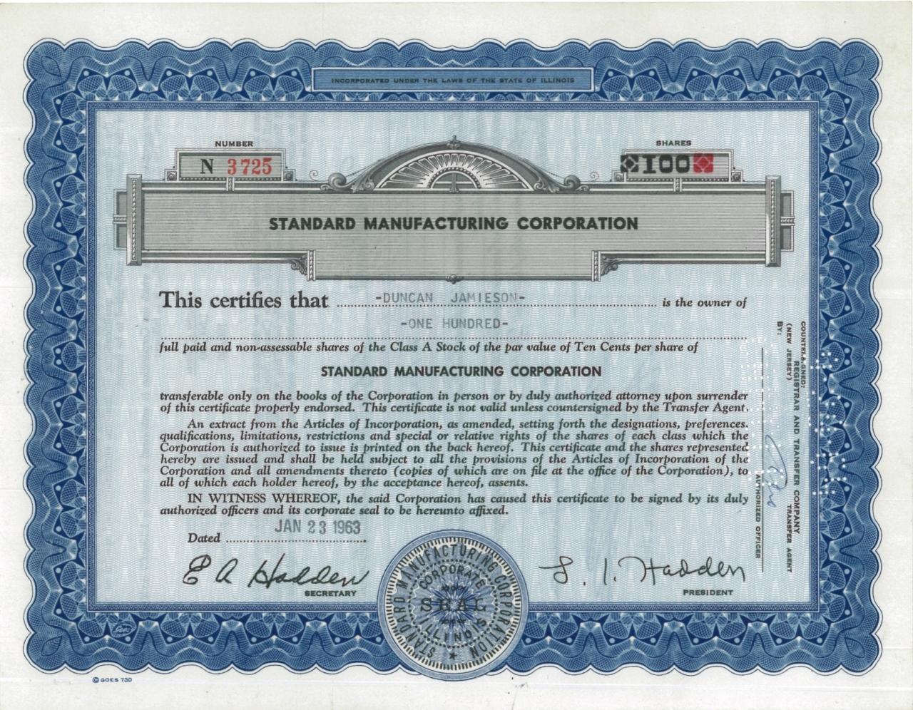 Standard Manufacturing Corporation