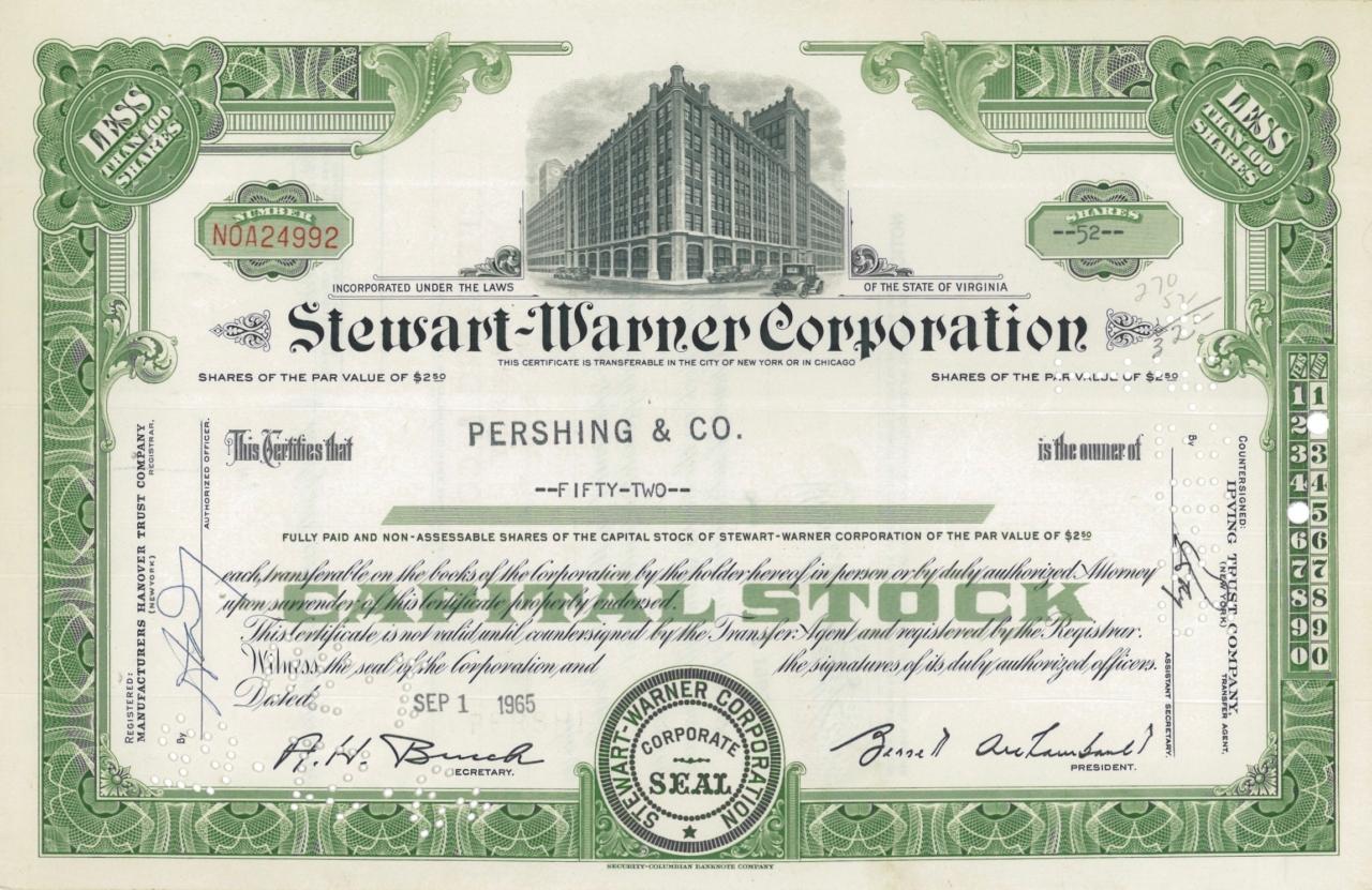 Stewart-Warner Corporation
