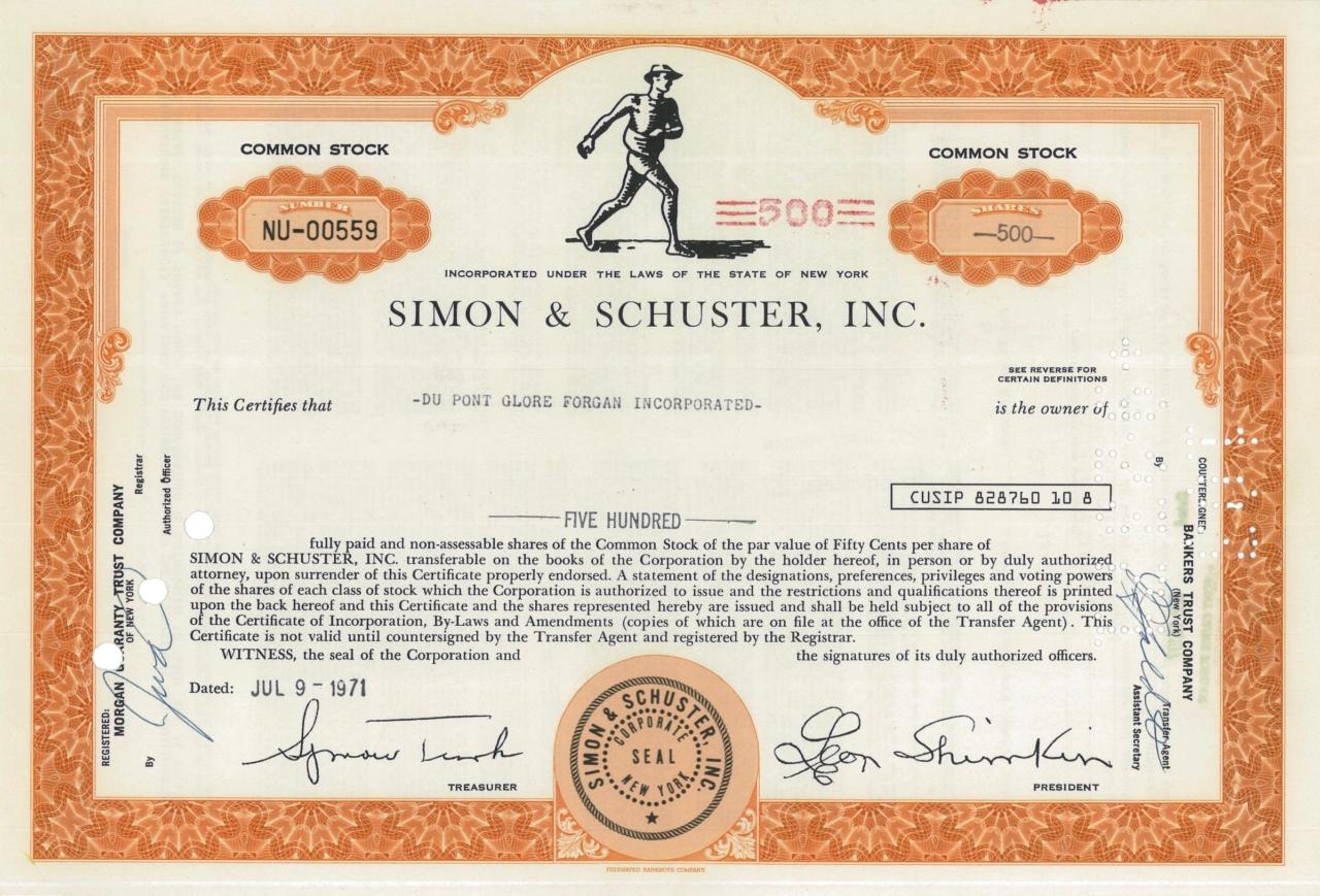 Simon & Schuster, Inc.