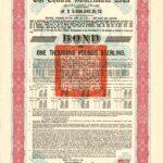 £1,000 Chinese Government Loan Bond bearing 8% interest-1