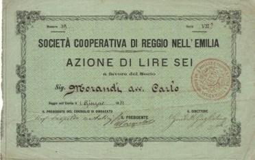 SOCIETA' COOPERATIVA DI REGGIO NELL'EMILIA