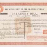 1918 Government Chinese Republic Treasury Bill Marconi Wireless Telegraph Loan-2