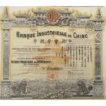 1919 Bank Industrial of China – Capital 75.000.000 Francs-1