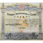 1920 Bank Industrial of China – Capital 150.000.000 Francs-1