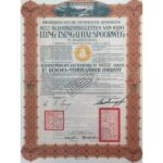 1920 Government of the Chinese Republic 1,000 Francs Dutch 8% Bond-1