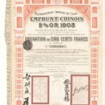 1905 – Gouvernment Imperial De Chine Emprunt Chinois 5% OR 1903 Pien Lo Railway-1