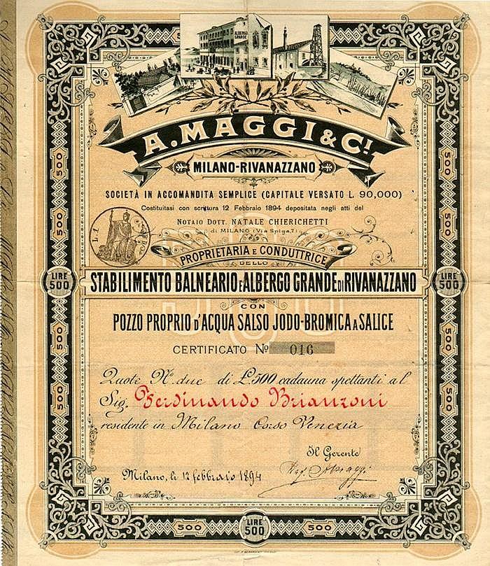 A. Maggi & C. - Milano Rivanazzano