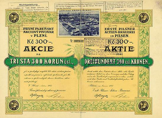 Erste Pilsner Actien-Brauerei in Pilsen