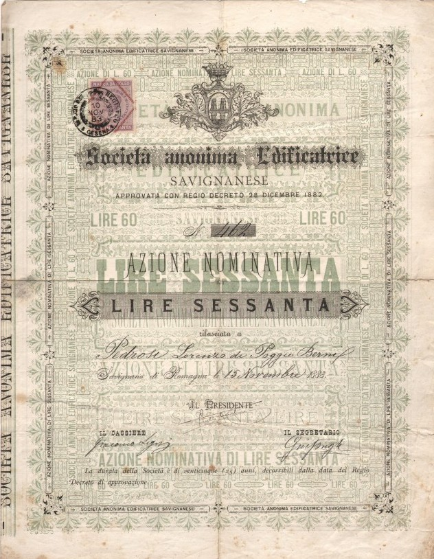 SOCIETA' ANONIMA EDIFICATRICE SAVIGNANESE