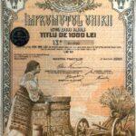 Kingdom of Roumania Loan of 1000 Lei – Public debt Ministry of Finance 1919-1