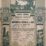 Kingdom of Roumania 20,000 Lei – Internal Loan 5% Ministry of Finance Public Debt 1920-3
