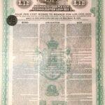 KINGDOM OF ROUMANIA 4% CONSOLIDATION LOAN GOLD DOLLAR  1922-6