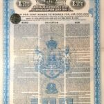 KINGDOM OF ROUMANIA 4% CONSOLIDATION LOAN GOLD DOLLAR  1922-3