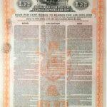 KINGDOM OF ROUMANIA 4% CONSOLIDATION LOAN GOLD DOLLAR  1922-5