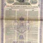 KINGDOM OF ROUMANIA 4% CONSOLIDATION LOAN GOLD DOLLAR  1922-2