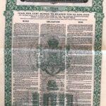 KINGDOM OF ROUMANIA EXTERNAL LOAN 4% GOLD DOLLAR £100  1922-1