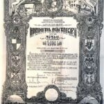 Kingdom of Roumania 5000 Lei – 4.5% State Loan Ministry of Finance Public Debt of Romania Refinance 1941-1