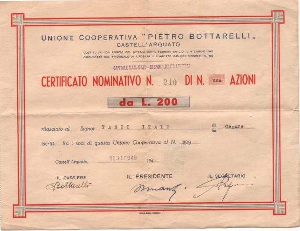 UNIONE COOPERATIVA PIETRO BOTTARELLI-CASTEL D'ARQUATO
