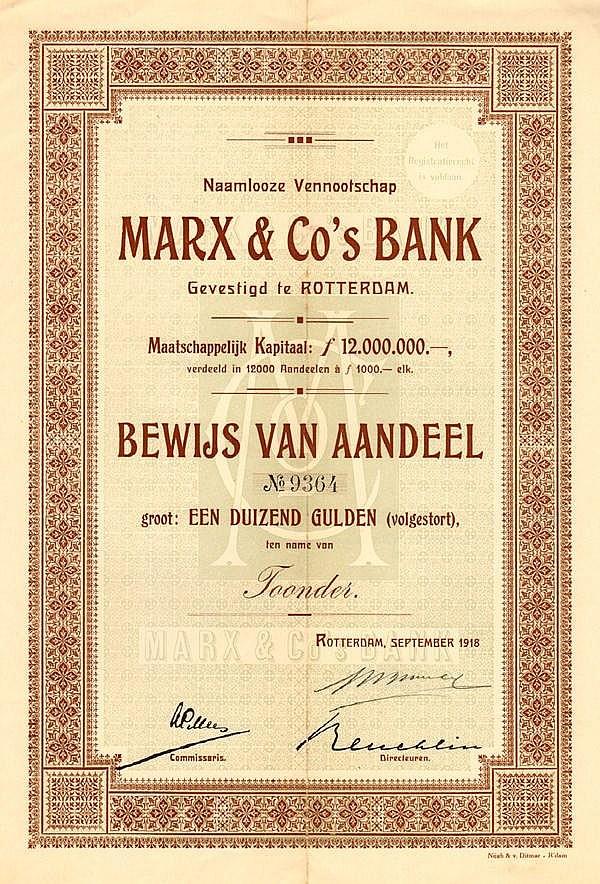 Marx & Co s Bank