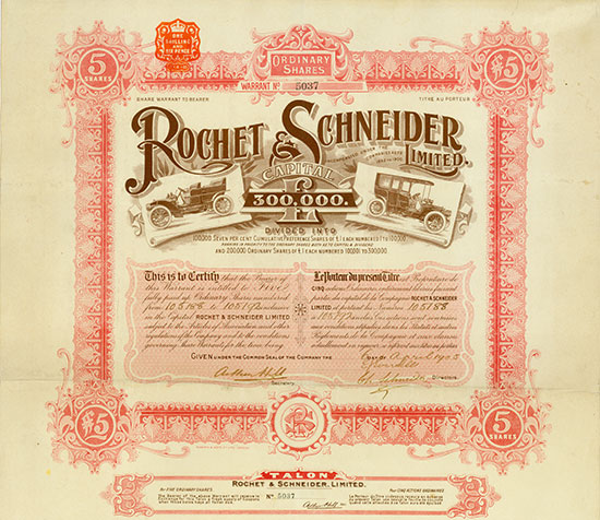 Rochet and Schneider Ltd