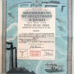 Kingdom of Roumania  – 4.5% State Loan Ministry of Finance Public Debt of Romania The Endowment Loan to Countries 1934-1