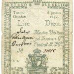 Biglietti di Credito verso le Regie Finanze – Lire 10-3