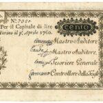 Biglietti di Credito verso le Regie Finanze – Lire 100-5