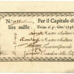 Biglietti di Credito verso le Regie Finanze – Lire 1.000-1