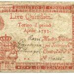 Biglietti di Credito verso le Regie Finanze – Lire 15-1