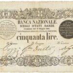 Banca Nazionale negli Stati Sardi – Lire 50-8