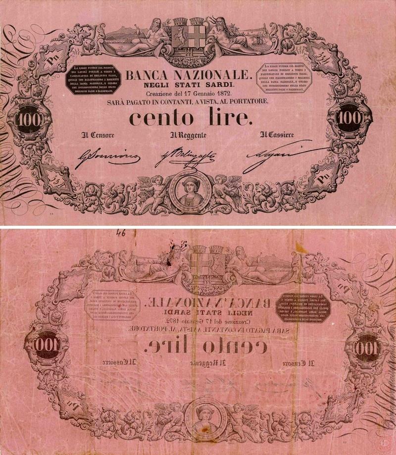 Banca Nazionale negli Stati Sardi - Lire 100