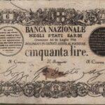 Banca Nazionale negli Stati Sardi – Lire 50-4