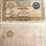 Banca Nazionale negli Stati Sardi – Lire 20-8