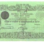 Banca Nazionale negli Stati Sardi – Lire 250-5