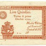 Biglietti di Credito verso le Regie Finanze – Lire 15-4