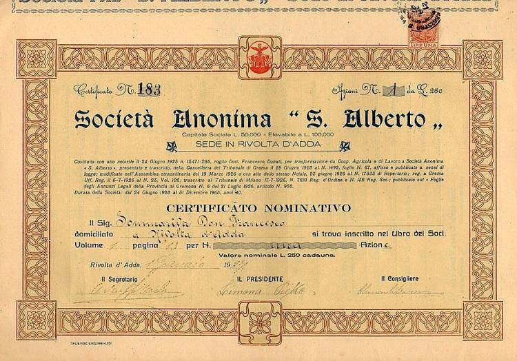 S. Alberto S.A.