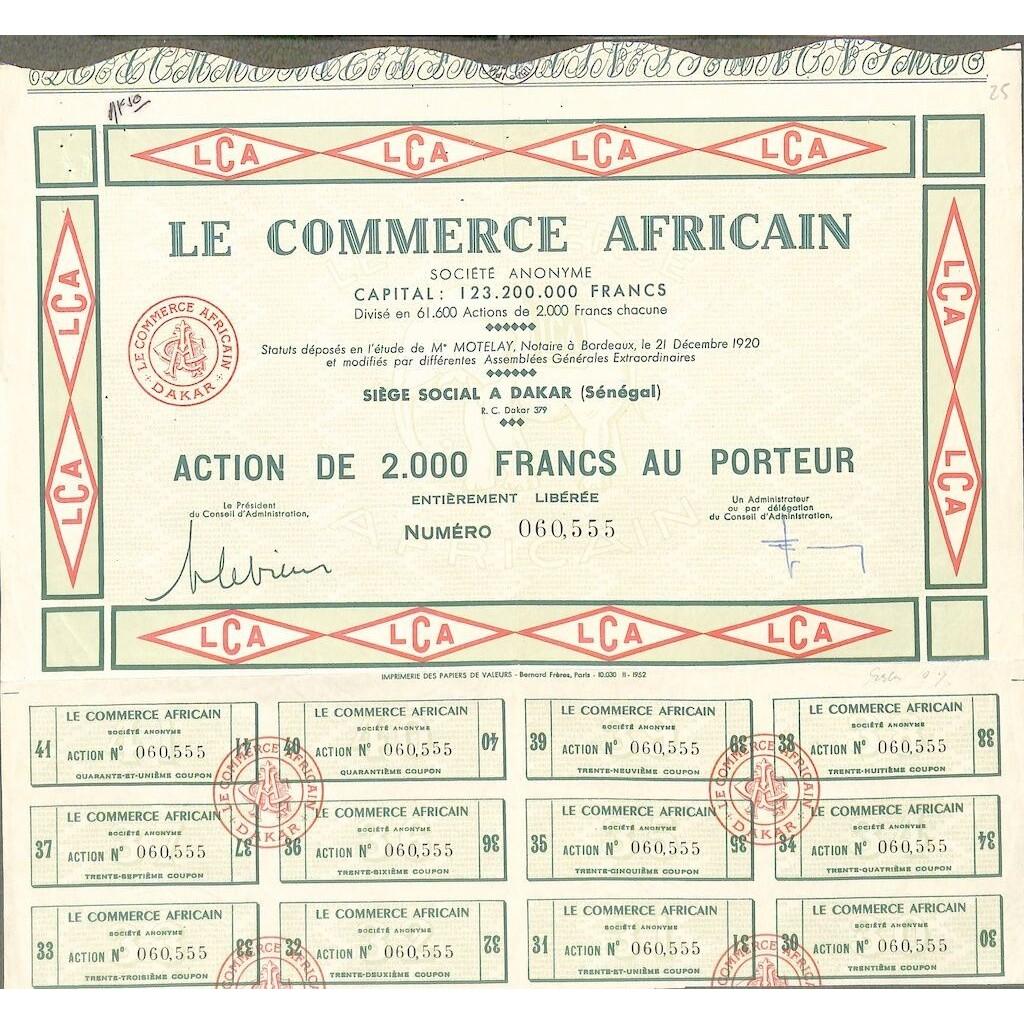Le commerce africain