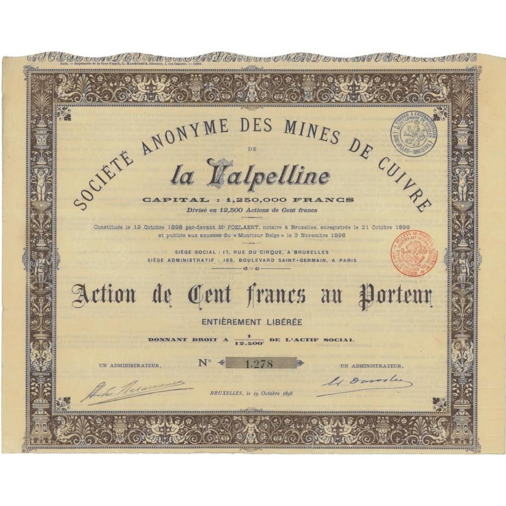 Mines de Cuivre de la Valpelline Soc. An.