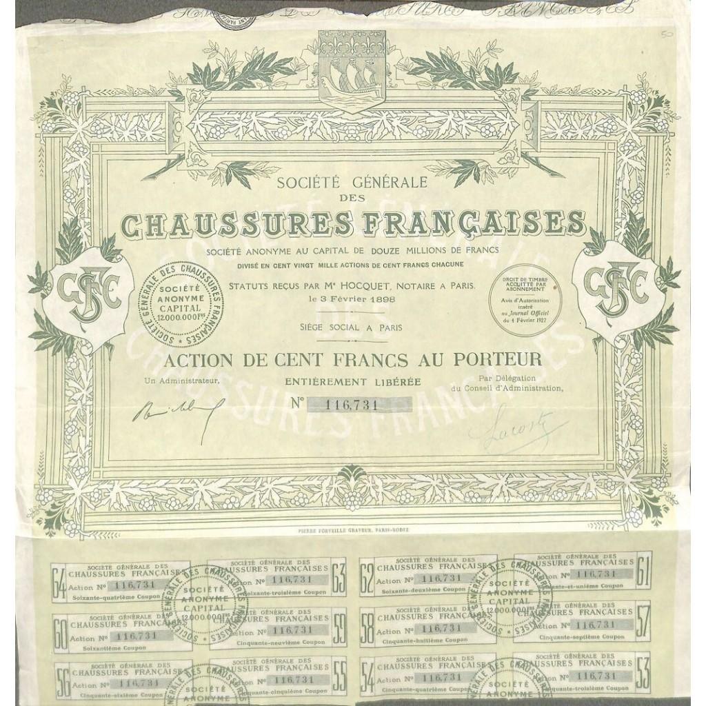 Chausseres francaises soc. Gener. Des